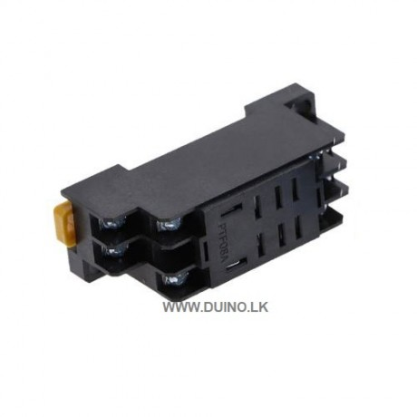 PTF08A LY2NJ General Purpose Relay Socket For LY2NJ 8 Pins Relay 2 N/O 2 N/C * Without Relay