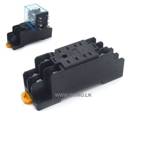 PYF08A Relays Socket Base DIN Rail 8 PIN for MY2NJ HH52P H3Y-2 *Without Relay