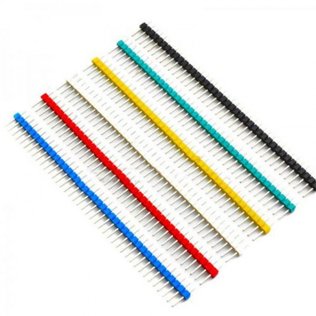 Male Pin Header Breakable strip  2.54mm 1X40 *1Pcs Red/Yellow/Blue/White/Green