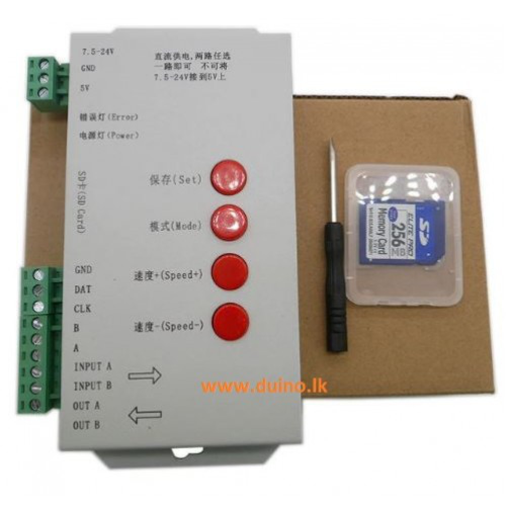 Pixels LED Controller T1000S with SD Card DC5~24V