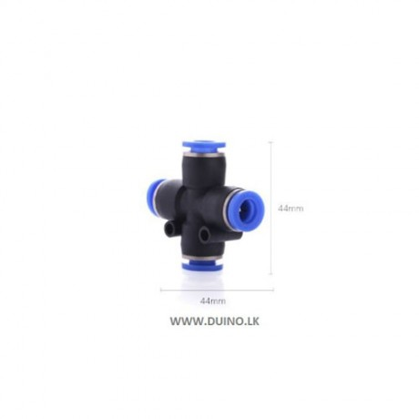 4-way Cross Shape Air Pneumatic Connector Quick Fitting OD 4mm 6mm 8mm 10mm 12mm