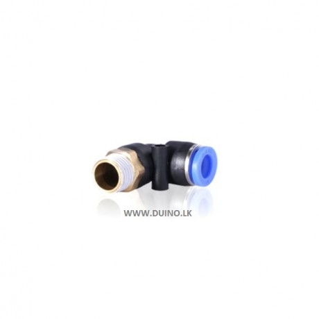 "L Shape OD 4/6/8/10/12mm Hose Pipe * M5 1/8 ""1/4"" 3/8 ""1/2"" BSPT Male Thread Pneumatic Connector"
