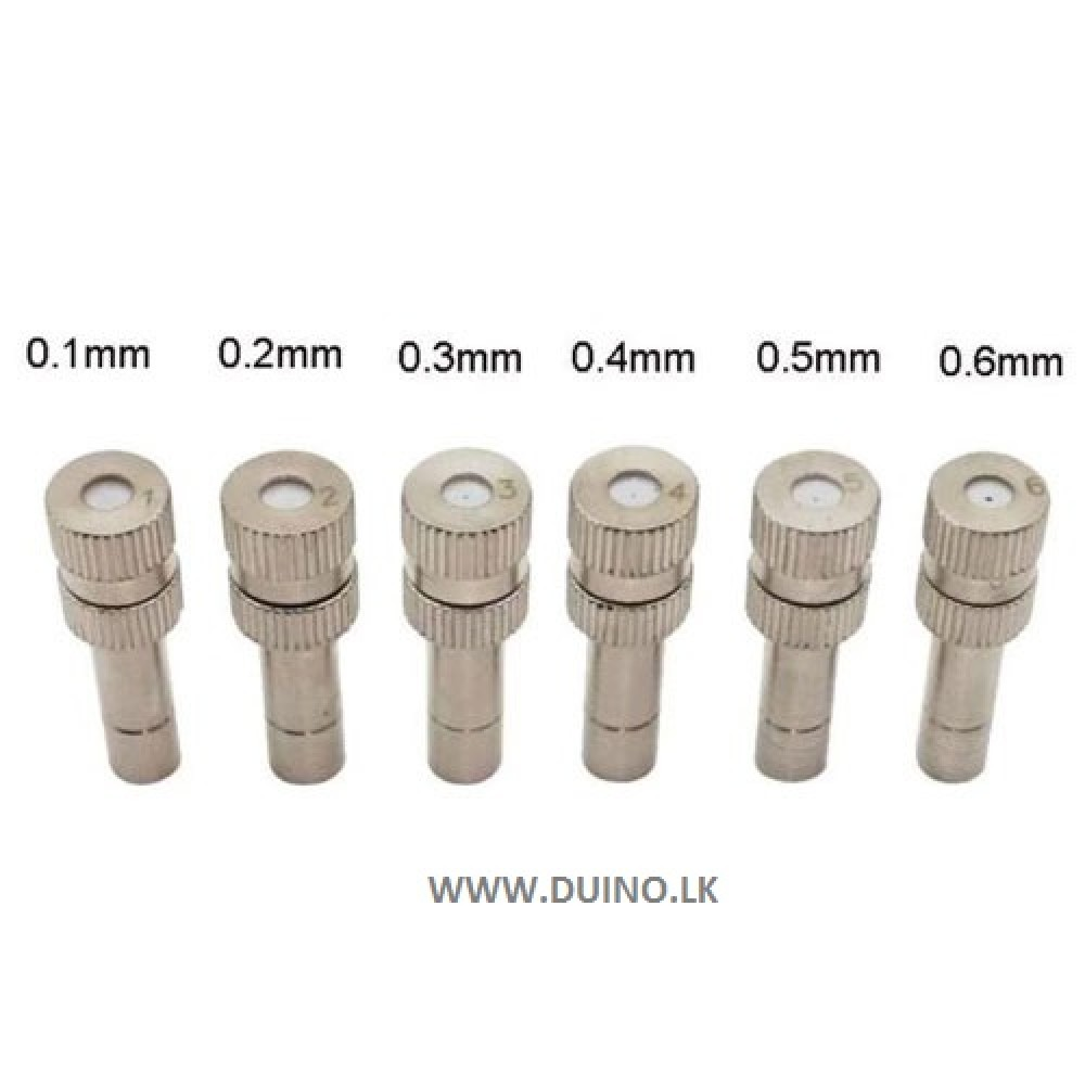 Low Pressure High Quality Atomizing Misting Nozzle Spray Injector Slip Lock Quick Push