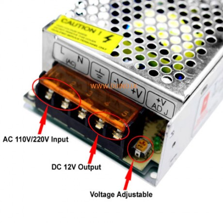 12V 5A Switching Power Supply SMPS Driver AC110-220V
