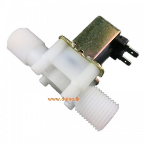 "Electric Solenoid Valve 1/2"" Plastic DC 12V 0.6A N/C For Water Air"