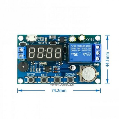 DC 5V Real time Timing Delay Timer Relay Module Multiple Mode Control Switch Delay Module with Buzzer