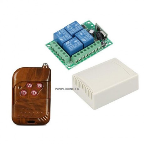 12Vdc 4CH Channel 433Mhz Wireless Remote Control Switch