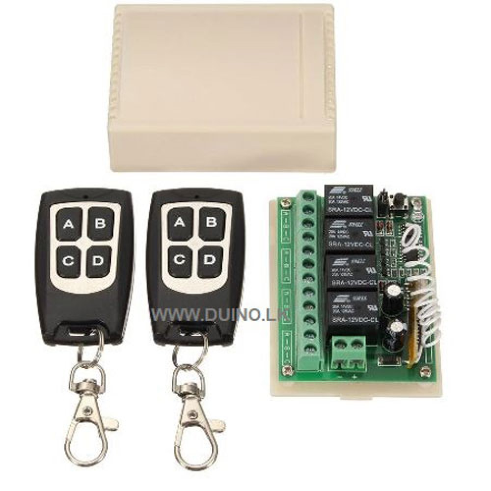 Wireless Remote Control Switch 12Vdc 4CH Channel 433Mhz