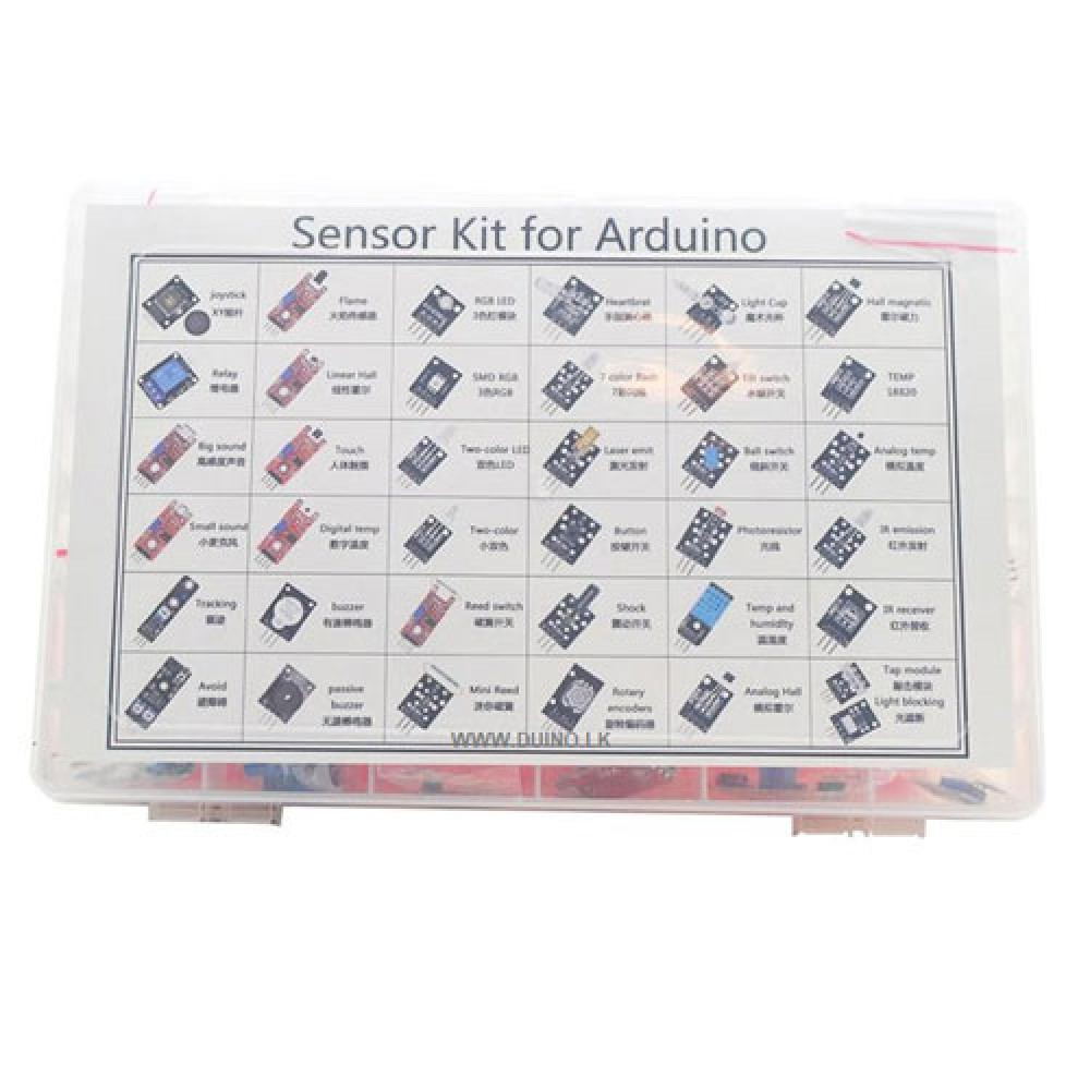 37 IN 1 Sensor Kit For Arduino With Plastic Container