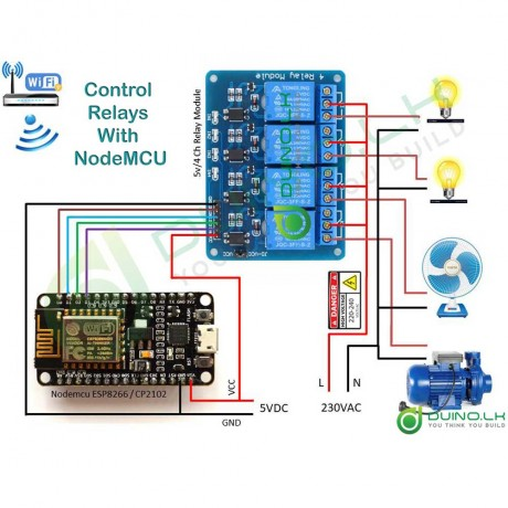 Internet Of Things Starter Kit With Nodmcu Wi-Fi Module +Tutorial,Code,Diagram,Libraries