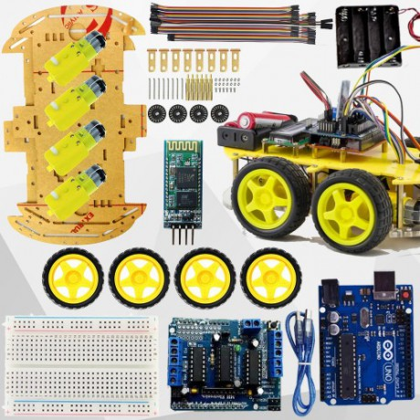 Duino Bluetooth Controlled 4WD Smart Robot Car Kit 02