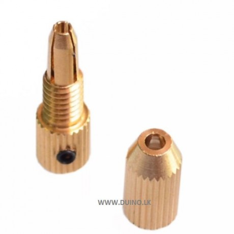 2.3mm Brass Electric Motor Shaft Clamp Mini Collet Drill Chuck Adapter For 0.7mm-1.4mm Drill Micro Drill Bit