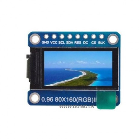 TFT Display 0.96 Inch 80X160 IPS LCD Display Module Full Color TFT 65K ST7735