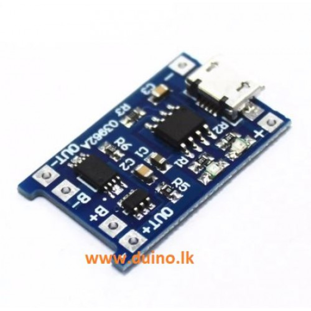 Micro USB 5V 1A 18650 TP4056 Lithium Battery Charger Module
