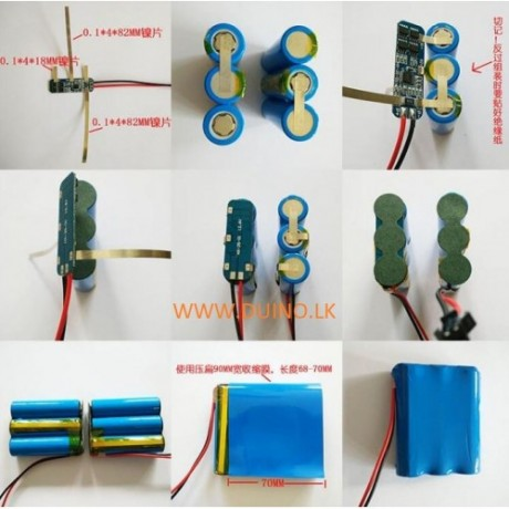 3S 12V 18650 10A BMS Charger Li-ion Lithium Battery Protection Board