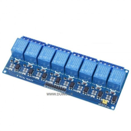 12VDC 8 channel relay module with optocoupler