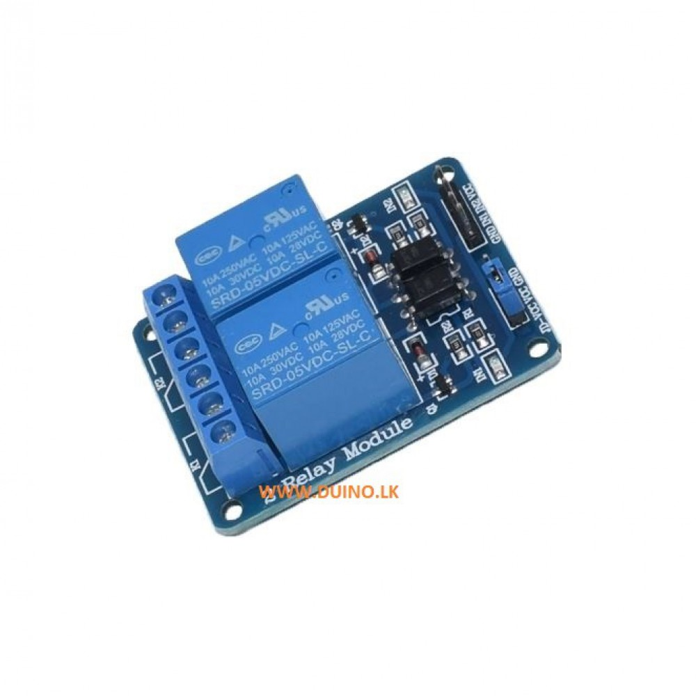 5V 2 Channel Relay Module With Optocoupler LED