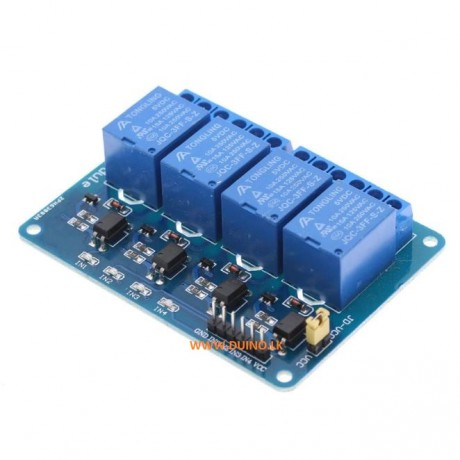 5V 4 Channel Relay Module With Optocoupler LED