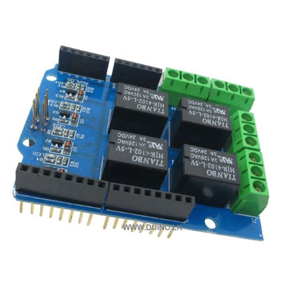 4 Channel 5v Relay Shield Module  Expansion Board for UNO R3 Mega 2560