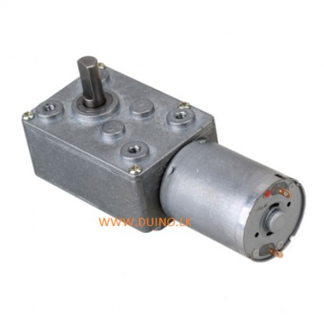 12VDC 30RPM Square High Torque Turbo Worm Geared Motor