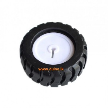D-hole Rubber Wheel 43x19x3mm Suitable for N20