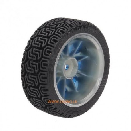 65mm Rubber Tire With Sponge Liner For 1:10 1/10 Smart Car