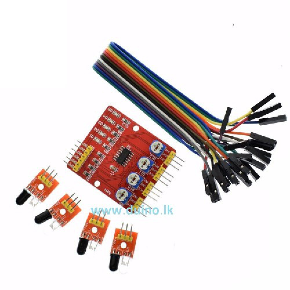 Four-Way Infrared Tracing Tracking Module